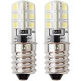 Gloeilamp voor koelkast, E14 LED 2W (25W halogeenlamp gelijkwaardig) 220V 6000K wit, apparaatlamp, schroeflamp, 2 stuks