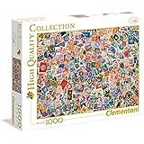 Clementoni - Puzzle 1000 piezas stamps (39387)