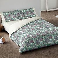 Burrito Blanco - Juego de funda nórdica 406 Verde para cama de 105 x 190/200 cm.