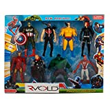 #9: Rvold 8 In 1 Twist and Move Avengers Super Heros Action Figure Play Set and Cake Topper
