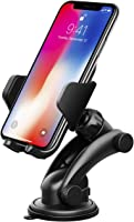 Car Phone Mount, Mpow Grip Pro 2 Dashboard Car Phone Holder Cars Mount Universal Cradle Adjustable Windshield Holder with Strong Sticky Gel Pad for iPhone X/10 8 7 7 Plus 6S/Plus 6 5S HTC Nokia LG Huawei and Other Smartphone