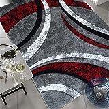 Unamourdetapis Tapis Salon Moderne et Design, Facile d'entretien Havana Prestige Gris, Rouge, Noir 120 x 170 cm...
