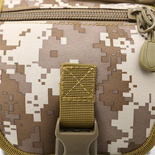 FFZH sport all'aria aperta impermeabile borsa a tracolla tasche equitazione borsa tattiche appassionati di campeggio militare Messenger Bag camouflage digitale , D F