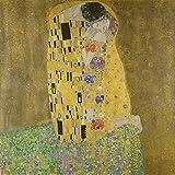 Berkin Arts Gustav Klimt Giclée Tela Stampa La Pittura Poster Riproduzione(Il Bacio)