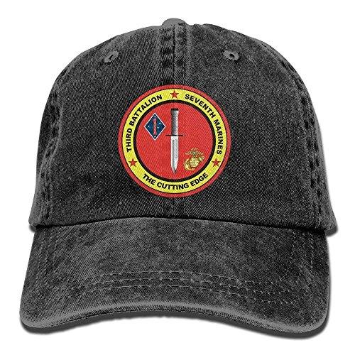 Hoswee Unisex Kappe/Baseballkappe, 3rd Battalion, 7th Marines Decal Cotton Adjustable Cowboy Hat Gym Caps for Man and Woman