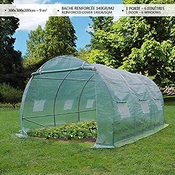 Tectake Serre De Jardin Avec Base Alu Polycarbonate Tente