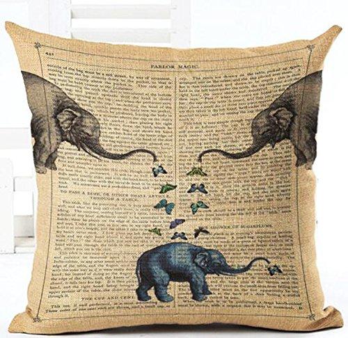 Retro página periódico amor animales elefantes y globo de aire caliente manta...