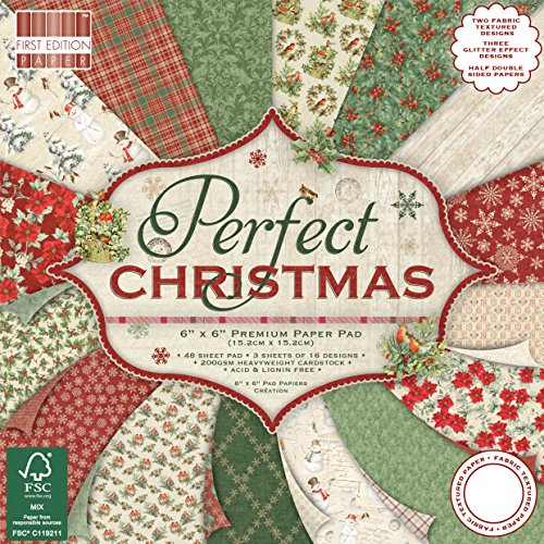 Prima edizione Natale, Multi-colour, First Edition Christmas - Perfect Christmas Premium Paper Pad 6'x6' 48 Sheets (FSC)