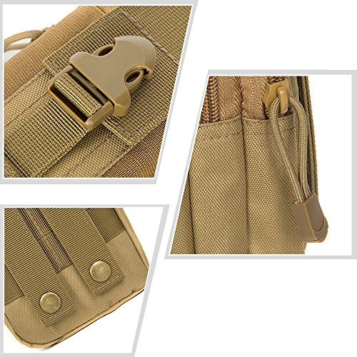 Eizur Tactical Hüfttaschen MOLLE Taille Tasche Pack Mehrzweck Tasche Military Fanny Gadget Packungen Nylon Beutel für Camping Wandern Radfahren Klettern Reisen Laufen Khaki
