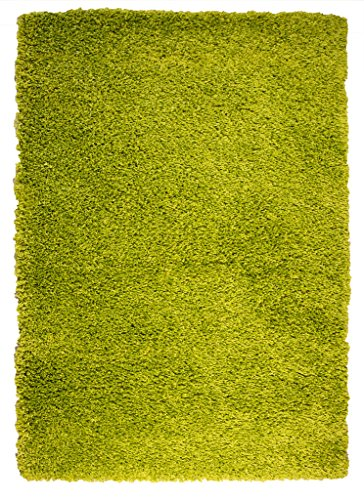 VIBRANT GREEN SOFT LUXURY SHAGGY RUG 5 SIZES AVAILABLE 180cmx270cm (5ft11