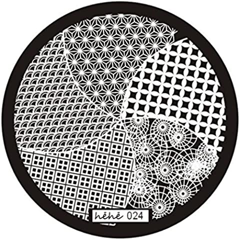 Fortan Nail Art Timbro immagine Piastre Stampaggio manicure Template Hehe Series 024 - Airbrush Della Vernice Template