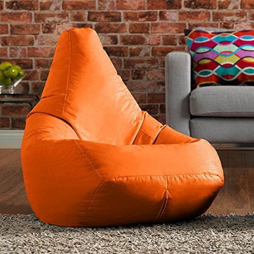 Bean Bag Bazaar Sitzsack Outdoor Hohe Rückseite Tasche Stuhl, Polyurethan, orange, 70x 70x 118cm