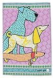 MollyMac Hund GESCHIRRHANDTUCH Hübsche Küche Wohnkultur, Hunde Abwaschtuch. Preiswertes Danke Geschenk für Hochzeit, Geburtstag, Weihnachten 100% Baumwolle - 71 x 46 cm - I Woof You Dog