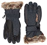 Ziener Damen Lim Girls Glove Junior Skihandschuh, Denim, 7