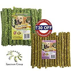 Spectrum Group An ISO 9001:2015 & HACCP Accredited Company brings for your pampered dog A Combo Pack of Premium Chicken & Natural Flavored 40+40=80 Sticks