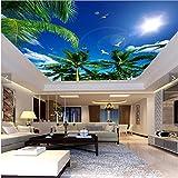 ShAH Custom 3D Wallpaper Wohnzimmer Blue Sky Lm Sun Decke Art Hotel Restaurant Wandbild Dekoration Hintergrund 3D Tapete Hintergrundbild Wallpaper Wandmalerei Fresko Mural 200cmX150cm