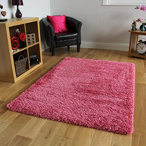 The Rug House Bright Pink Super soffice Tappeto Shaggy 5Taglie Disponibili, Pink, 60_x_110_cm