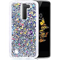 """LG K8 Coque, Coque LG K8, Protection LG K8, Nnopbeclik® Soft/Doux Silicone Transparente """"paillette brillant"""" Backcover Housse (5.0 Pouces) Antiglisse Anti-Scratch Etui - [Argent]"""