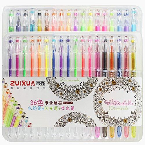 taotree-36-pice-paillet-paillettes-gelpens-stylos-gel-avec-etui-parfait-pour-scrapbooks-invitations-