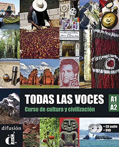 Todas las voces A1-A2 - Libro + CD + DVD: libro del alumno + MP3 descargable + DVD (Ele - Texto Español)