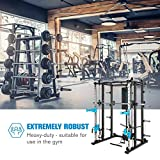 Capital Sports Pro Amaze Smith Machine • Powerrack • Multipresse • 2 Safety-Spotter • 16-Fach höhenverstellbar • Robustes Stahlrohr • inkl. Klimmzugstange • ca. 184 x 210 x 170 cm (BxHxT) • schwarz - 5