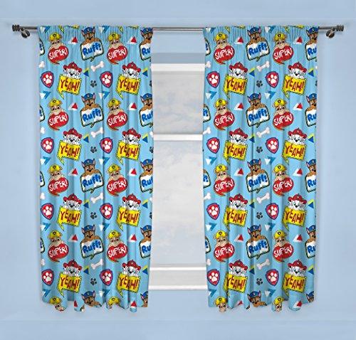 Paw Patrol Peek Kinder Schlafzimmer Vorhänge, blau, 137cm (Vorhänge Paw Patrol)