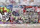 Fototapete Graffiti 3 S 200 x 140cm - 4 Teile Vlies Tapete Wandtapete - Moderne Vliestapete - Wandbilder - Design Wanddeko - Wand Dekoration wandmotiv24