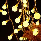 RUNACC Catena Luminosa, Luci & Esterno Natalizie Interno 6M Globo Bianco Caldo LED Lucine Led Decorative 60LED Luci Stringa I
