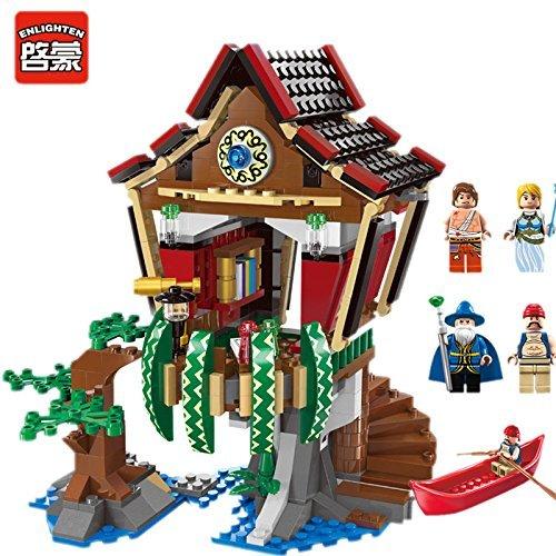 Ingenious Toys magico cabina 4 figure mini barca piante fata / 506 compatibile con elementi costitutivi #1309 NB