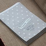 """East of India bolsas de papel de """"Muchas Gracias X 40Boda/Craft"""