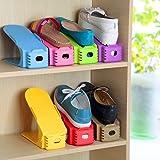 SR MALL Shoe Sandals Footwear Organiser Space Saver Rack - Set of 6