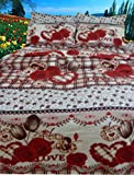 5D/3D Designer printed Double Bed Sheet Set (230x250 cm) Glace Cotton Fabric best price on Amazon @ Rs. 699