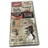 Bold Bloc Design - Boxing Fight Club Rules Hobbies 80x40cm - Leinwand Kunstdruck Box gerahmte Bild Wand hangen - handgefertigt In Grossbritannien - gerahmt und bereit zum Aufhangen - Canvas Art Print