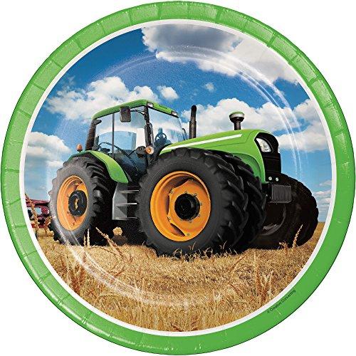 onverting Traktor Mal Pappteller (8Zählen), 22,2cm ()