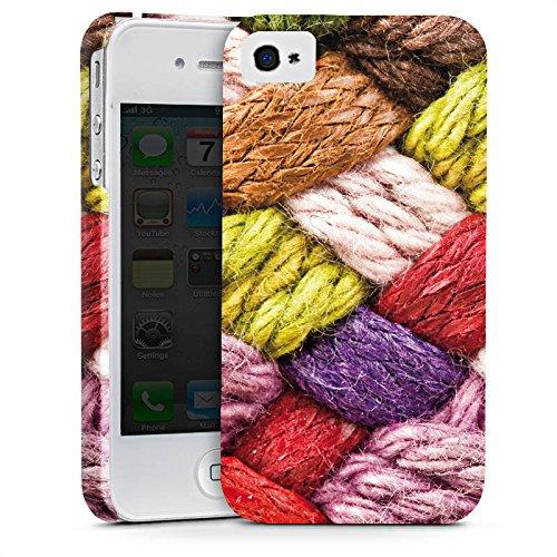 Apple iPhone X Silikon Hülle Case Schutzhülle Wolle Look Stricken Bunt Premium Case glänzend