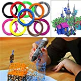 #7: LussoLiv 10M 1. 75mm 10 Colors PLA Filaments 3D Printing Pen Printer Filaments