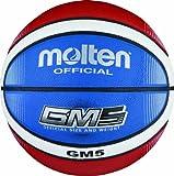 Molten Basketball BGMX5-C, Rot/Weiß/Blau, Gr. 5