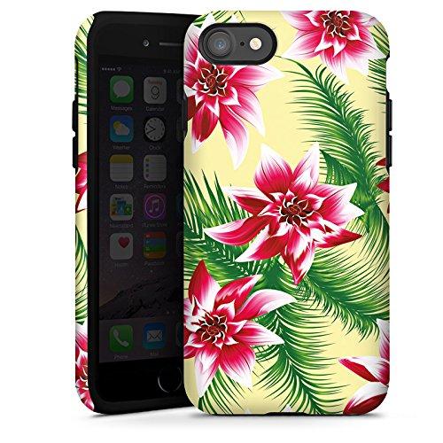 Apple iPhone X Silikon Hülle Case Schutzhülle Sommer Blumen Muster Tough Case glänzend