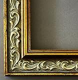 Bilderrahmen Verona Gold 4,4 - Über 14000 Größen - 27 x 27 cm - mit Normalglas - Maßanfertigung ohne Aufpreis