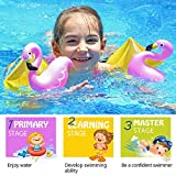 infinitoo Arm Bands Swimming Armbands for Kids Toddlers over 3 Year Old| Flamingo Inflatable Float Set of PVC Safety Materials|Assisted Kids Swimming for Pool,Water Park and Beach Activities