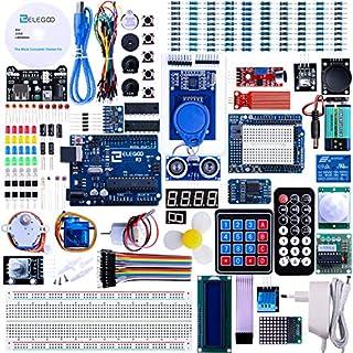 ELEGOO Ultimate Starter Kit Vollständigster Elektronik Projekt Baukasten mit Deutsch Tutorial, Mikrocontroller Board und viele Zubehöre Sortimentskasten (mehr als 200 Teilen)