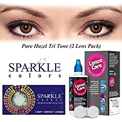 Sparkle Monthly Contact Lens - 2 Units (-1, Pure Hazel)