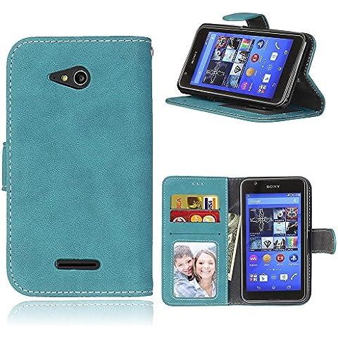 Cozy hut Per Sony Xperia E4G (4,7 Zoll) Blu Custodia
