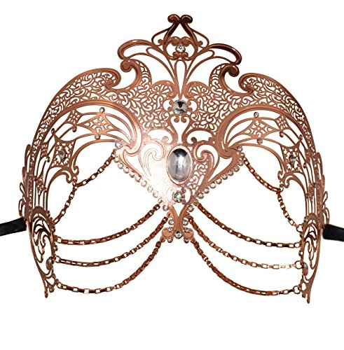 Metall Masquerade Maske Halloween-Kostüm Mardi Gras Maske Ball Ball Kleid für Halloween Mardi Gras Party, metall, rose gold, (Top Teen Kostüme Halloween)