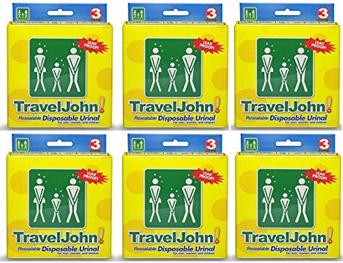 Price comparison product image TravelJohn Unisex Disposable Urinal (18)