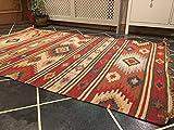Second Nature Kashi Geometrische Wolle indischen Kelim Teppich Multi Farbe (Fair Trade) 120cm x 180cm