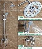 LHbox Bad Armatur in Bad für Waschbecken Waschtisch Wasserhahn Waschtischarmatur Dusch-Kit Dusche bündig an der Wand montierten Küche Waschtisch Armatur Montieren