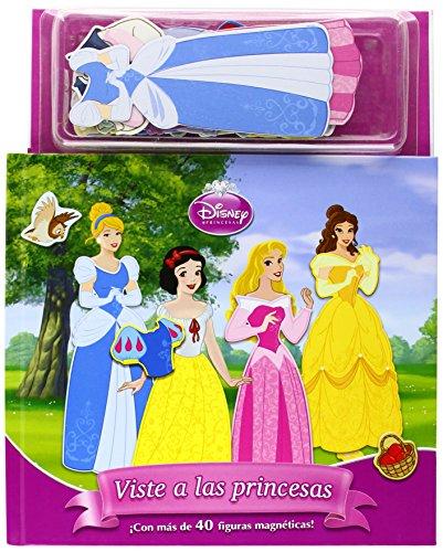 Viste a las princesas. Libro magnético: ¡Con más de 40 figuras magnéticas! (Disney. Princesas) por Disney