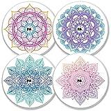 MySweetStitch | Freestyle Libre Sensor Sticker Set van 4 Mandala | met opening voor ventilatie van de huid