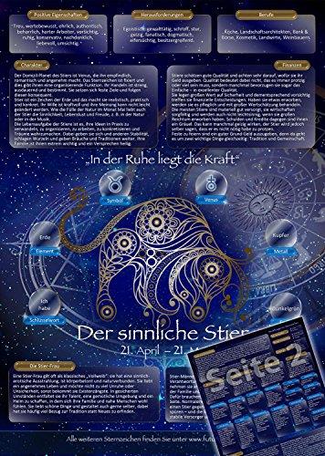 Sternzeichen Stier - Die Horoskop- und Charakter-Karte für Liebe, Partnerschaft, Beruf, Finanzen und Gesundheit: Die psychologische Astrologie der...